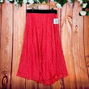 NWT Lularoe Lucy Maxi Rose Floral Skirt 1508CR
